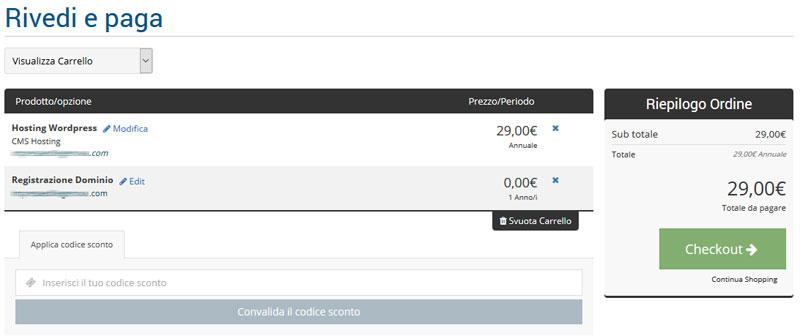 pagamento hosting wordpress